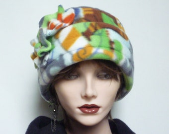 SALE  -  Womens Polar Fleece Cat Print Hat