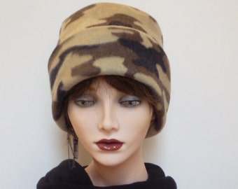 SALE  -  Item Brown Camouflage Beanie Hat