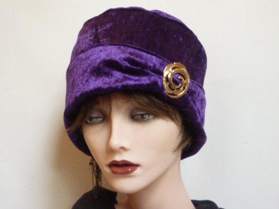 Purple Velvet Hat