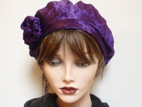 Purple Velvet Tam