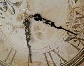 Tick Tock Dangle Earrings - clock hands