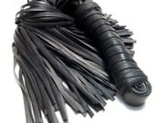 Flogger Adult Toy from Bicycle Innertubes - Double with Fine Tails - Vegan Innertube Sex Toy
