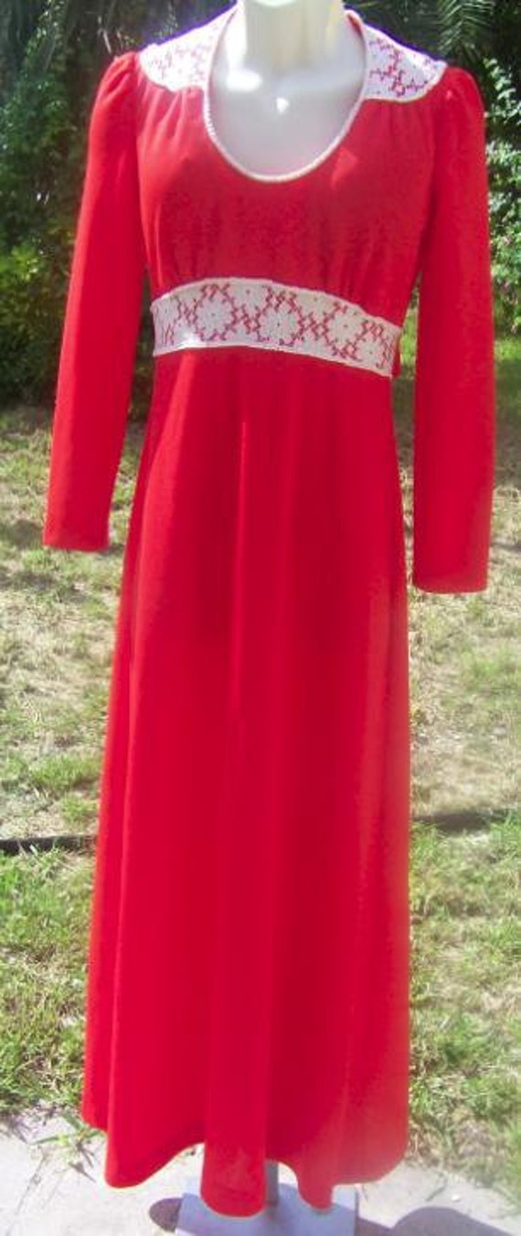 70s Vintage Orange dress