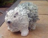 Polar Bear pine cone art OOAK
