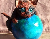 Courageous Kitten paper mache