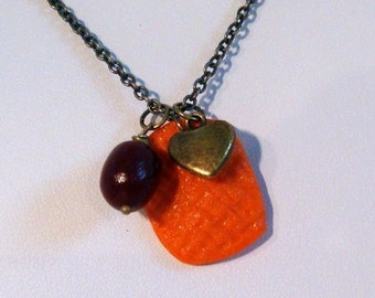 I Love the Holidays Sweet Potato Cranberry Necklace