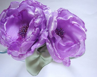Lavender Beaded Flower Headband for Girls or Women Summer Fashion