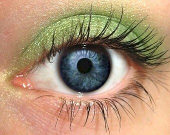 Golden Green Eyeshadow | CILANTRO | Mineral Eye Color Eyeshadow | Gold Green Eye | Cruelty Free Beauty Natural Pure Eco Vegan
