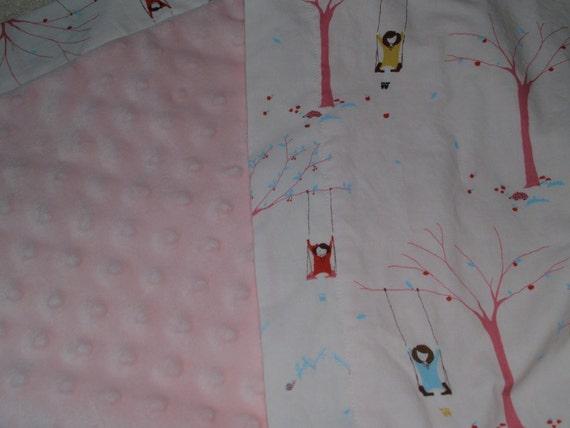 Minky Stroller Blanket using Sherbet Pips fabrics
