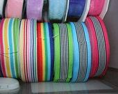 Ribbon Destash lot 7/8 grosgrain stripes 75yard lot