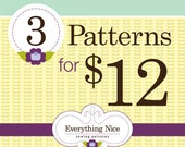 Any 3 Everything Nice PDF Sewing Patterns including 8.00 patterns