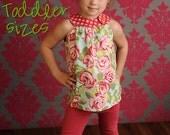 Circle-Top Shirt PDF Pattern, Toddler Girl 12-18 months to 5T