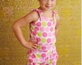 Roller Skate Romper PDF Pattern, fitted waist, Baby, Toddler Girl newborn to 2T