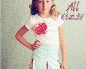 Schoolgirl Pleated Skirt PDF Pattern Tutorial, Baby, Toddler Girl newborn through 4T
