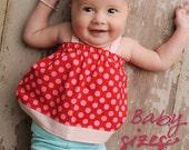 Sweet Baby Babydoll Top/Dress PDF Pattern Tutorial, Baby Girl newborn to 18 months