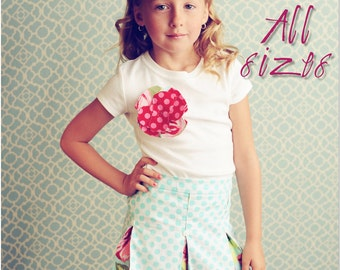 Schoolgirl Pleated Skirt PDF Pattern Tutorial, Baby, Toddler Girl newborn through 4T