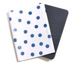 Passport Cover in Blue Polkadot Oilcloth-- Ready to Ship w/ FREE US Shipping