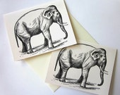 Elephant Note Cards Stationery Set of 10 Cards
