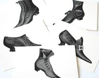 Vintage Shoe Notecards - Set of 10