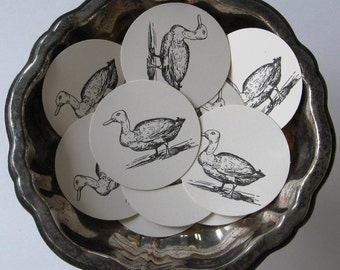 Duck Tags Round Gift Tags Set of 10