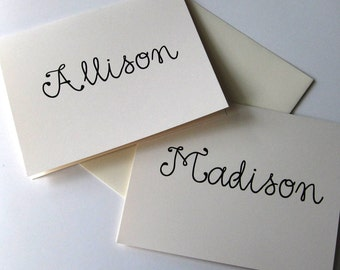 Personalized Name Notecards Set of 10