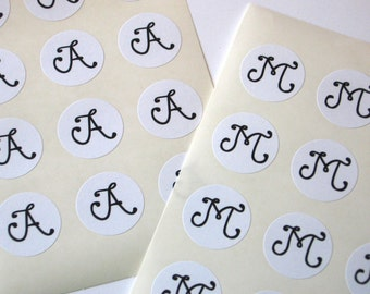 Monogram Stickers - One Inch Seals