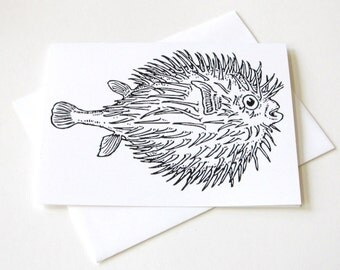 Puffer Fish Notecard Set of 10