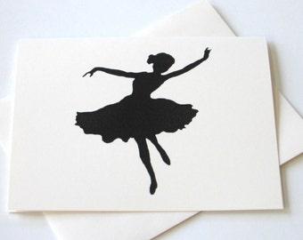 Dancer Silhouette Notecards - Set of 10