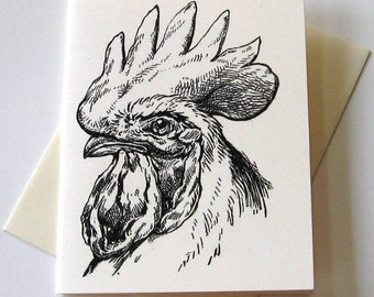 Rooster Notecards - Set of 10