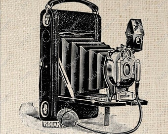 Vintage Camera Kodak Digital Download for Iron on Transfer