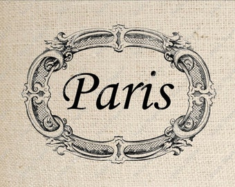 Paris Sign Digital Download or Iron on Transfer