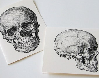 Two Skulls with Lots to Say - Notecards Set of 10