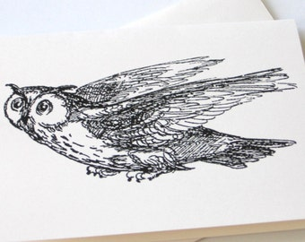Owl in Flight Notecards - Set of 10