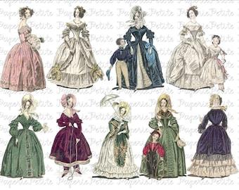 Victorian Women Digital Download Collage Sheet