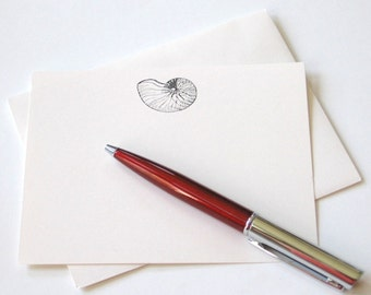 Nautilus Shell Note Cards - Set of 12
