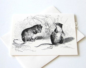 Gossiping Mice Notecards - Set of 10