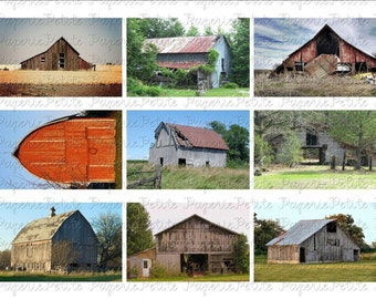 Old Barns Digital Download Collage Sheet