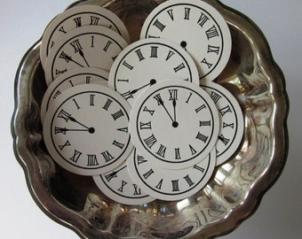 Clock Face Time Tags Round Gift Tags Set of 10