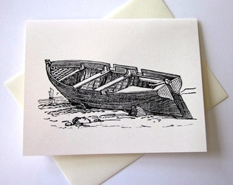 Old Boat Note Cards Stationery Set of 10 Cards
