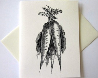 Carrot Note Cards Stationery Set of 10 Cards