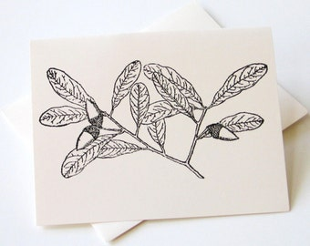 Oak Leaves Notecards - Set of 10