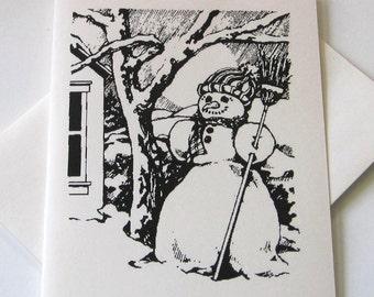 Vintage Snowman Notecards