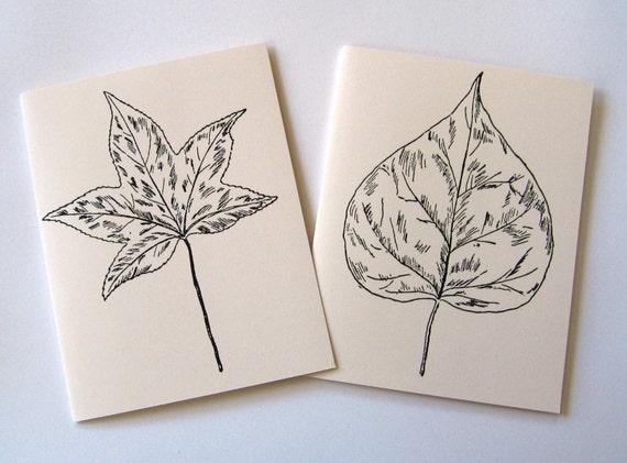 Leaves Notecards