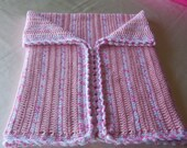 Soft Pink Baby Afghan ..37 inches x 31 inches