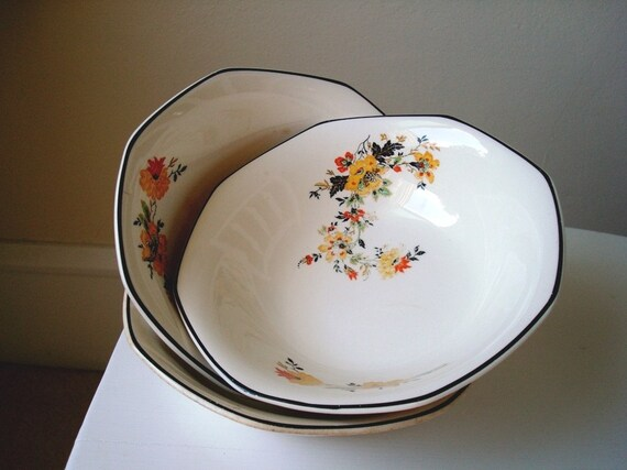 Medieval Rose vintage dishes by Homer Laughlin
