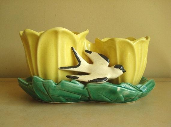 Mccoy Pottery Double Tulip Planter