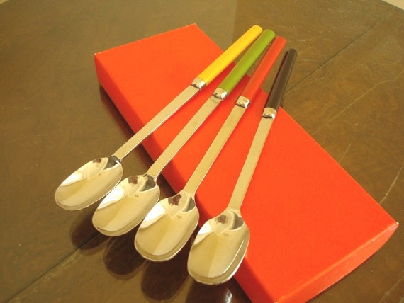 RESERVED Iced tea spoons, cocktail or dessert spoons, Swedish modern