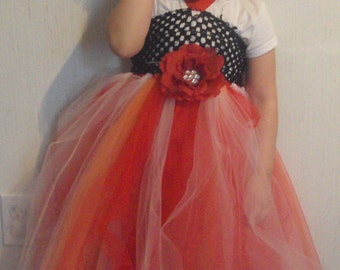 tutu dress with crochet top choice of colors and flowers