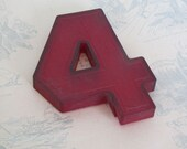 A16 Vintage 6 Inch Red Marquee Sign Number 4