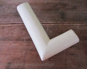 Letter L Big 12 Inch Vintage CREAMY WHITE Sign Letter N345 - Liam - Leah - Lori ...Here's Your Initial